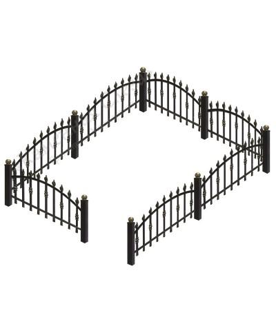 Кованная ограда модель Арка