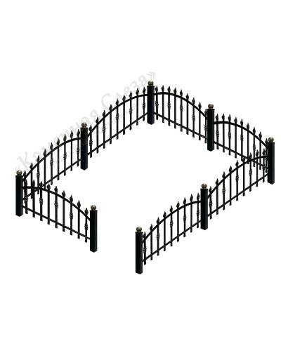 Кованная ограда модель Арка малая (с пиками)