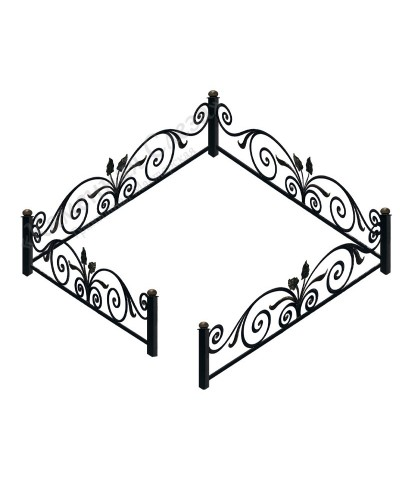 Кованная ограда модель Букет
