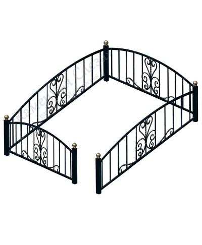Кованная ограда модель Классика
